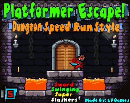 Platformer Escape! Dungeon Speed Run Style